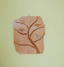 Dekorácie - Drevený obraz - Vtáčí facebook :-) - 9242266_