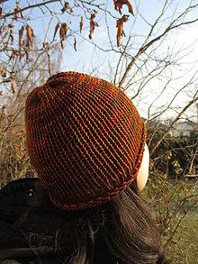 Detské čiapky - JednoFAREBNÁ ČIAPKA, 9 farieb na výber + Vaša farba, 100% merino - aj ako ROLL - UP, ručne/STROJOM pletená (Oranžová) - 9241288_