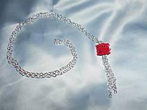 Náhrdelníky - Náhrdelník s kockou - 9243162_