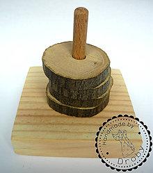 Hračky - nastokávačka drevené kolieska - 9242327_