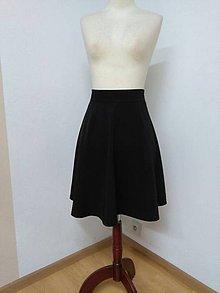 Sukne - Čierna kruhová sukňa - 9243475_