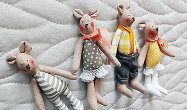 Hračky - Mini myšky v jarných farbach - 9239316_