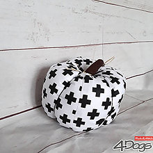 Dekorácie - Tekvica väčšia (Čierno-biela) - 9242144_