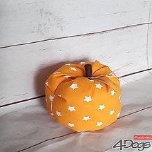 Dekorácie - Tekvica väčšia (Oranžová) - 9242145_