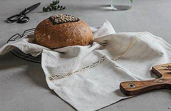 Úžitkový textil - Utierka z ľanového plátna - 9241204_
