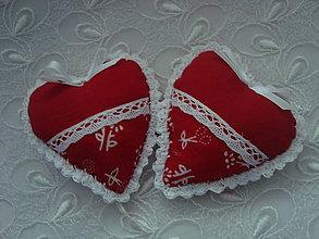 Darčeky pre svadobčanov - Svadobné srdiečka (Červená) - 9241864_