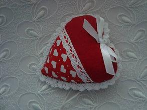 Darčeky pre svadobčanov - Svadobné srdiečka (Červená) - 9241883_