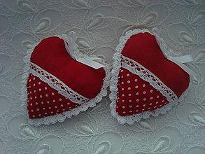 Darčeky pre svadobčanov - Svadobné srdiečka (Červená) - 9241897_