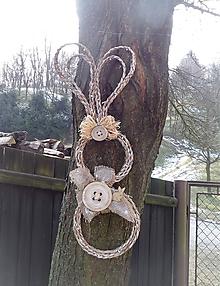 Dekorácie - Závesná veľkonočná dekorácia - zajačik ušiačik - 9246683_