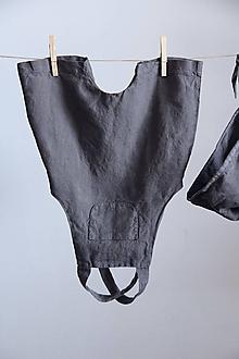 Detské oblečenie - Detské ľanové kraťasy na traky - 9247245_