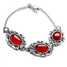 Náramky - Vintage Red Jade Bracelet / Náramok s červeným jadeitom /0370 - 9245119_