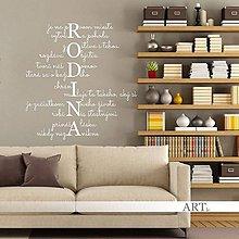 Dekorácie - (3777n) Nálepka na stenu - R.O.D.I.N.A - 9244258_