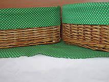 Košíky - Dubové zelenobodkované