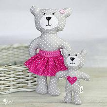 Hračky - medvedia mamina s mláďatkom - 9245130_