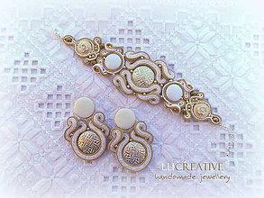 """Sady šperkov - Sada náušnice + náramok """"Nenapodobiteľná"""" - 9246579_"""