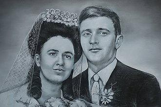 Kresby - Svadobná-dvojportrét - 9247037_