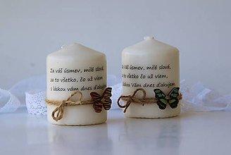 Svietidlá a sviečky - Dekoračné sviečky - poďakovanie pre učiteľov II. - 9247225_