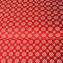 Textil - červená výšivka, 100 % bavlna Nemecko, šírka 140 cm, cena za 0,5 m - 9244132_