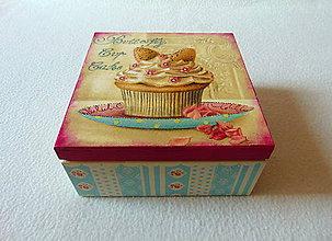 Krabičky - Čajová krabička Z cukrárne - 9244715_