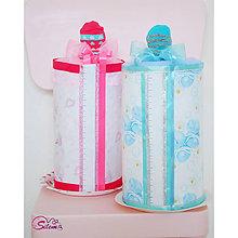 Detské doplnky - Plienkové torty-Detské fľaše (Modrá) - 9245129_