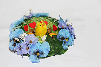 Dekorácie - Akcia! Veľkonočné hniezdo so sliepočkou III  Predtým 6€ - 9248654_