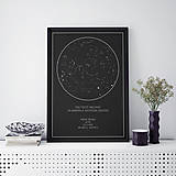 Grafika - Nočná obloha, moderná, čierna - 9247188_