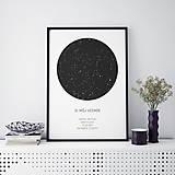 Grafika - Nočná obloha, minimalistická, čierna - 9247200_
