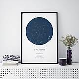 - Nočná obloha, minimalistická, modrá - 9247734_