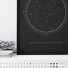 Grafika - Nočná obloha, dobrodružná, čierna - 9247147_