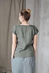 Topy - Dámsky ľanový top krátky rukáv LASSY - dostupný v 18 farbách - 9246990_