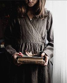Detské oblečenie - Detské ľanové zavinovacie šaty - 9244555_