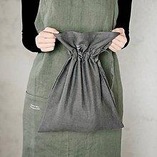 Úžitkový textil - Ľanové vrecúško na chlieb - 9246741_