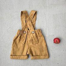 Detské oblečenie - Detské ľanové kraťasy na traky - dostupné v 18 farbách - 9247152_
