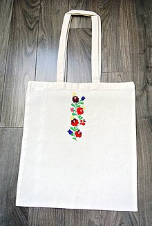 Nákupné tašky - Nákupná taška - kvetinky - 9246860_