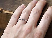 Prstene - Vetvičkový prsteň strieborný Ag925, obrúčka alebo len tak... - 9243765_