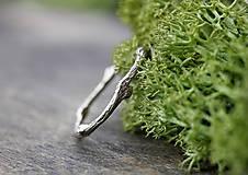 Prstene - Vetvičkový prsteň strieborný Ag925, obrúčka alebo len tak... - 9243766_