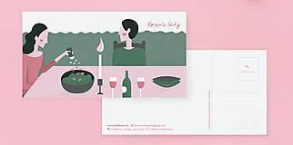 Grafika - Pohľadnica Korenie lásky - 9245928_