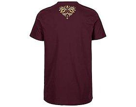 Tričká - Neutral®, Pánske bavlnené tričko, bordové, Vajnory - 9247473_