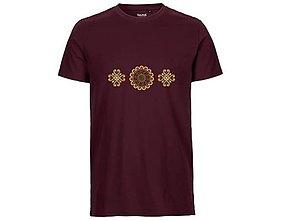 Tričká - Neutral®, Pánske bavlnené tričko, bordové, Detva - 9247525_