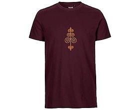 Tričká - Neutral®, Pánske bavlnené tričko, bordové, Čičmany - 9247541_