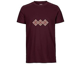 Tričká - Neutral®, Pánske bavlnené tričko, bordové, Papradno - 9247554_