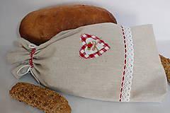 Vrecko na chlieb vo vidieckom štýle..veľké