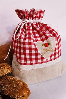 Úžitkový textil - Vidiecke vrecúško na pečivo... - 9246372_