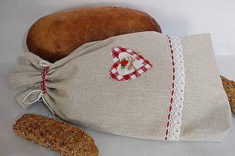 Úžitkový textil - Vrecko na chlieb vo vidieckom štýle..veľké - 9246495_