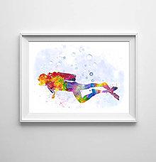 Grafika - Potápač - 9245014_