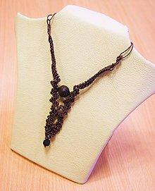 Náhrdelníky - Mikromakramé náhrdelník