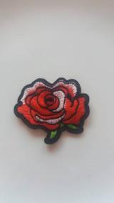 Galantéria - Nažehľovačka ružička červená 2 - 9245957_