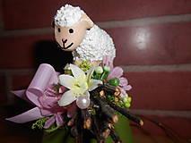 Dekorácie - Dekorácia s ovečkou - 9245476_
