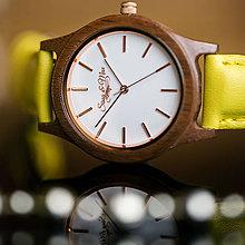 Náramky - Drevené hodinky Sissy&Max (Žltá) - 9245051_