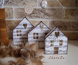 Dekorácie - Muzikantské domy - 9246053_